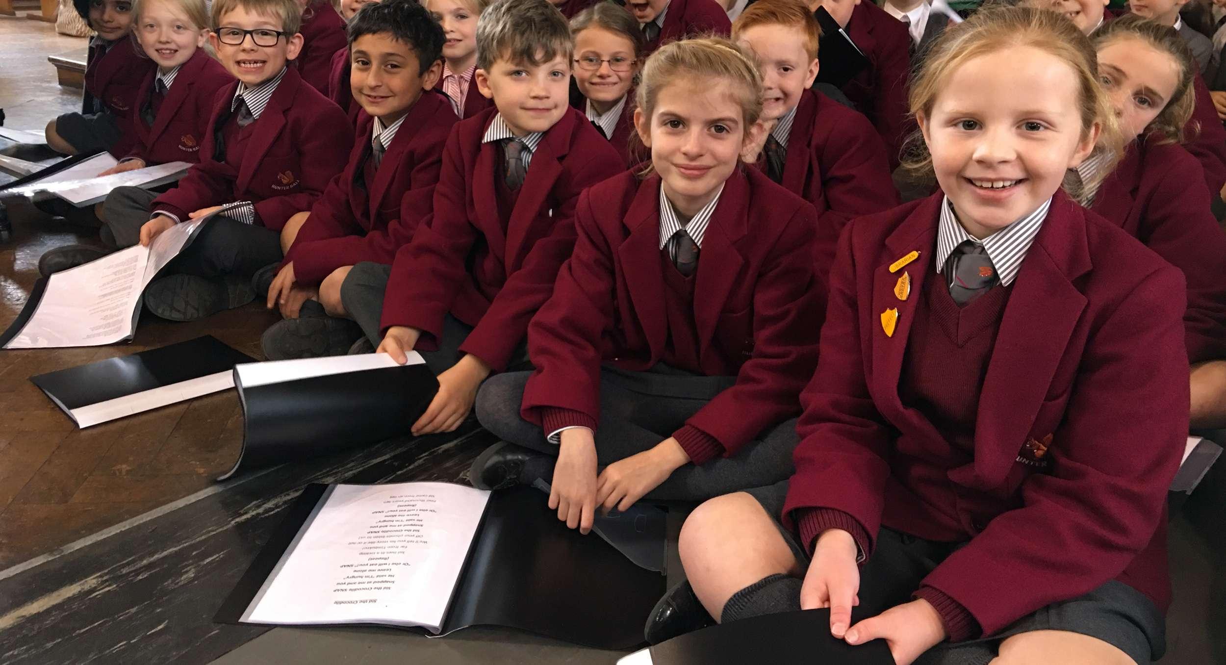 Hunter Hall School pupils in uniform